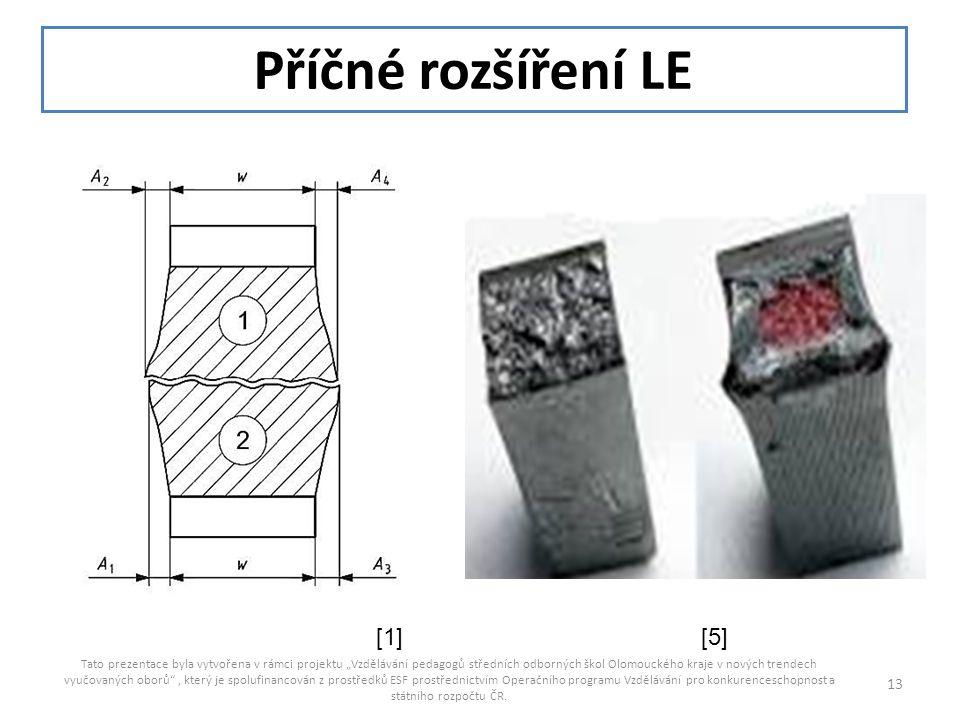 Příčné rozšíření LE [1] [5]